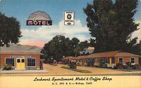 Linen Postcard Lechner's Sportsman's Motel Coffee Shop Bishop California~111951