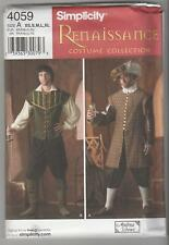 Simplicity Sewing Pattern 4059 Men's Renaissance Costumes Sz XS-XL
