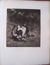 #) D36 - planche ARS GRAPHICA - DAUMIER les voleurs et l'âne - 1923