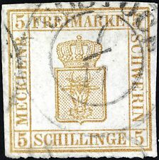 Mecklenburg-Schwerin (German State) Scott # 8, Used