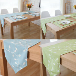 Cotton Linen Table Runner Tablecloth Cover Placemats Party Kitchen Home Decor