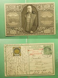 DR WHO 1914 AUSTRIA BREMERSTADT PICTORIAL POSTAL CARD WWI CENSORED TO US g21396