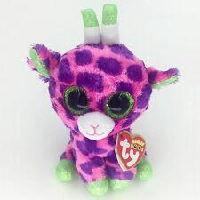 "Ty Beanie Boos 6"" Gilbert Pink Giraffe Stuffed Plush Toys Child Gift CS"