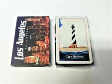Lot of 2 Souvenir Playing Cards Deck Cape Hatteras Lighthouse & Los Angeles Ca