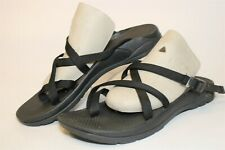 Chaco Womens 10 Black Canvas Sport Sandals Slip On Shoes