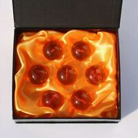 7 pcs New DragonBall Z 3.5cm Stars Crystal Ball Replica Collection In Box Set