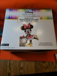 Lighted Disney Minnie Mouse Sculpture Outdoor Christmas Yard Decoration Display