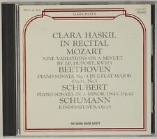 CLARA HASKIL: In Recital Mozart, Piano Sonatas BRUNO WALTER SOCIETY CD JAPAN