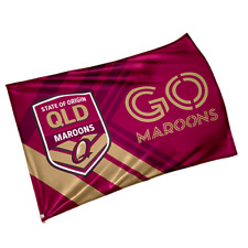 Queensland QLD Maroons State of Origin NRL Game Day Flag (NO STICK/POLE)