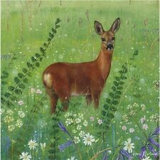 Lovely painted deer blank card enchanted wildlife by Otterhouse for any occasion