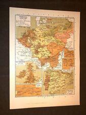 Carta cartina estratta da Atlante del 1890 Germania dal 1648 al 1789 Praga Pirna