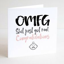 Funny Greeting Card / New Baby / NEW BABY / BIRTH / Congratulations / Daughter