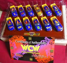 WCW OFFICIAL DIECAST BOXED SET, 1/64 1998 RACING CHAMPIONS 12 WCW PAINT SCHEMES