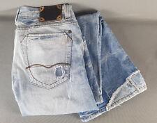 River Island Mens Light Blue Washed Straight Cut Distressed Jeans W34 L30    C10
