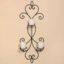 Wandmontierte Deko-Kerzenständer & -Teelichthalter aus Eisen