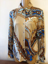 Beautiful Anne Klein 100% Silk blouse,fits S/XS,abalone buttons Sz 2 MSRP $185