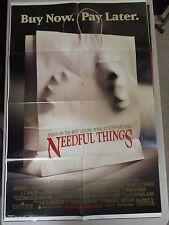 Vintage 1 sheet 27x41 Movie Poster Needful Things 1993 J.T. Walsh Amanda Plummer