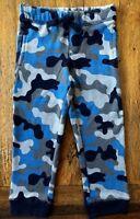 Gymboree 2T 3T Camo Sweatpants Navy Blue Gray Fleece Joggers Drawstring Boys