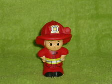 Fisher Price Little People Fireman Fire Chief Eddie in Red