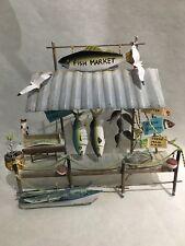 Wall Art Metal Dimensional Sculpture Fish Market Nautical Ocean Fishing Signed