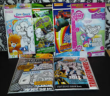 (6) Pop-Outz! Coloring Boards, Stickers, Markers - My Little Pony Ninja Turtles