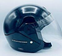 Harley Davidson Biker Helmet XXL DOT Black w Full Face Shield in Great Condition