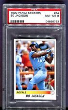 1990 Panini Stickers #84 Bo Jackson Royals PSA 8 Nm-Mt jhp