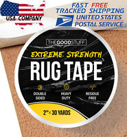 "Heavy Duty Double Sided Tape for Hardwood Floors Carpet Concrete Walls 2""x75ft"