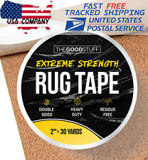 "Heavy Duty Double Sided Tape for Hardwood Floors Carpet Concrete Walls 2""x75ft"
