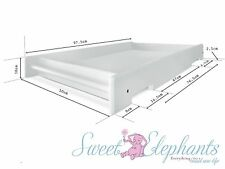 NEW UNIVERSAL WHITE BABY CHANGE TABLE FOR COT SIDE RAIL+ FREE BONUS MATTRESS