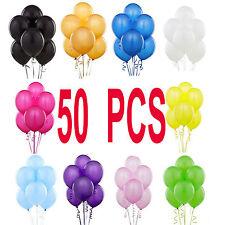 50 PCS Latex BALONS LARGE Helium Quality Party Birthday Wedding Balloons baloon
