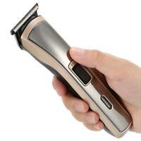 Kemei Men's Hair Clipper Shaver Trimmer Rechargeable Grooming Kit Cordless Gift
