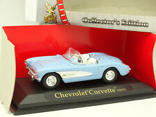 Road Champs 1/43 - Chevrolet Corvette 1957 Bleue