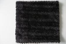 NEW YORKER LOOP SCHAL 32 x 70 c m, Nicki Fleece schwarz, WEBPELZ, Schlauchschal