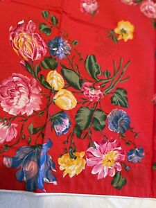 Kenzo Paris Made In France Pair Of Bright Floral Standard Pillow Shams 22x28