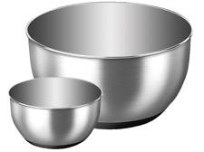 EMSA ACCENTA Schaltschale Salatschüssel Servierschüsseln Set 2tlg. 1,2L und 5L