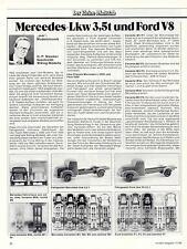 WIKING MODELL - CHRONIK MERCEDES LKW 3,5t und FORD V8