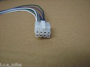 ALPINE 8 PIN 4 CHANNEL HI HIGH LEVEL SPEAKER INPUT PLUG CABLE LEAD MRV- MRP- V12