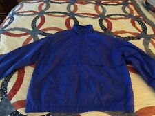 VINTAGE - WOMENS CABIN CREEK PURPLE WINDBREAKER JACKET SIZE LARGE ZIP FRONT EC