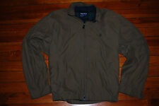 Vintage Men's Nautica Sailing Worker Brown Jacket (X-Large) Plaid Lining