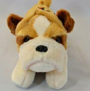 """11"""" Aurora Bulldog Plush Puppy w/Bandana"""