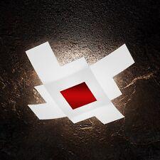 Plafoniera in vetro bianca e rossa moderna a 4 luci tpl 1121/75-RO
