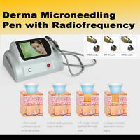 Derma Microneedling Pen with Radiofrequency with 15 Cartridges depth adjustment