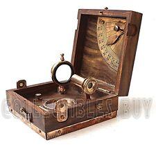 Antique Marine Master Instrument Box-telescope Compass Sprit Level Alidade Scale