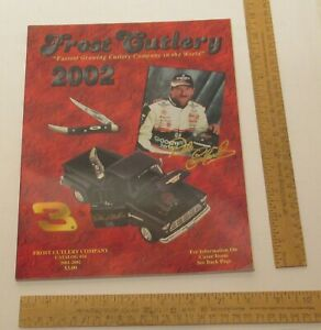 FROST CUTLERY CATALOG #24 - 2001-2002 - color illustrated - Dale Earnhardt