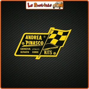 2 Adhesives IN Theme Andrea pinasco Vespa 50 Gt GTS Competition Racing
