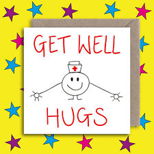 Cute Get Well Card - Funny Get Well Soon Card - Recover Opperation Greeting Card
