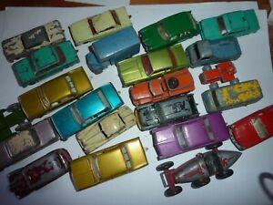 20 Vehicle Vintage Lesney Matchbox 1-75 Collection 1960's Jaguar Fiat MG Ford