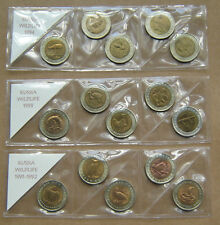 1991 - 1994 RUSSIA 15 BI-METALIC Coins - RED BOOK OF WILDLIFE - FULL SET *
