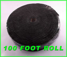 "HEADER TAPE EXHAUST PIPE HEAT WRAP THICK BLACK 1/16""X2""X 100 FT FOR V6 V8 ENGINE"
